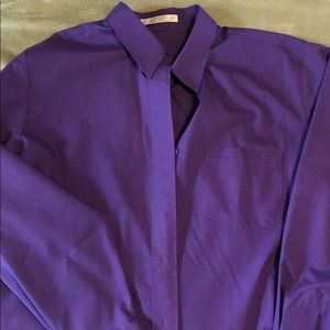 Purple wrinkle free dress shirt